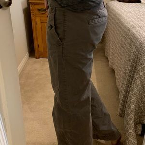 Gap hip sling fit flared leg chinos grey